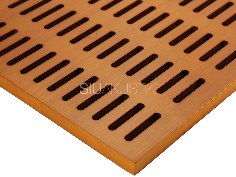 Wood Acoustic Panel Grooved Perforated Slotted Panels