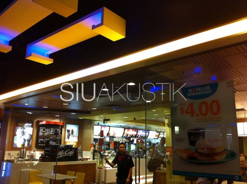 Siuakustik Slotted Ceiling In McDonald's Store (1)