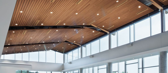 The Woodworks Linear Ceiling System Is All About Options Choose From Traditional Wood Planks Easy To Install Panels Solid Or Veneers